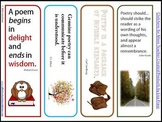 Poetry Bookmarks - Quotes About Poetry by Authors & Poets
