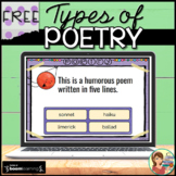 Poetry Boom Cards Distance Learning