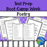 STAAR Poetry Boot Camp - Test Prep - Middle School