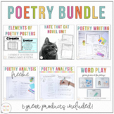 Poetry Bundle: Word Play, Poetry Journal, Poetry Posters, and Hate that Cat Unit