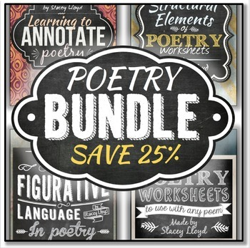 POETRY BUNDLE: Poetry Terms, Annotation, Figurative Language & Posters