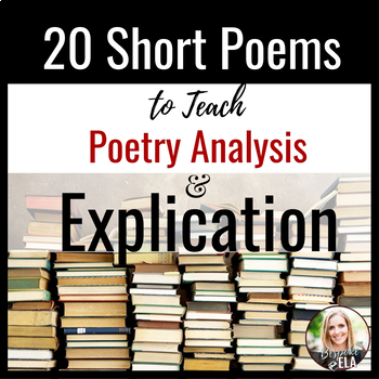 Poetry Bundle: 20 Short Poems to Teach Rhetorical Relationships & Explication