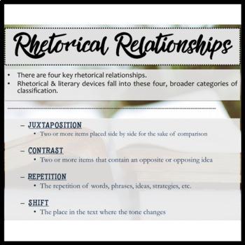 Poetry Bundle: 20 Short Poems to Teach Rhetorical Relationships & Explication
