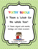 Poetry Bundle--A Poem a Week For a Year