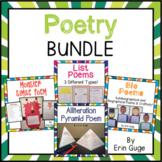 Poetry Bundle: Alliteration Poem, Simile Poem, Bio Poems, & List Poems