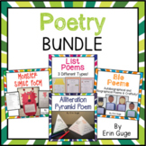 Poetry Bundle: Alliteration, Simile, Bio, & List Poems | Distance Learning