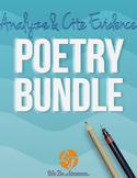 Poetry Bundle (Analyze and Cite Evidence Series)
