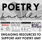 Poetry Bundle - Engaging Poetry Activities - Stations, Esc