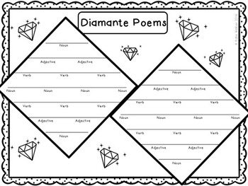 image about Diamante Poem Template Printable referred to as Poetry Package deal Freebie! Alliteration, Diamante Poem and Introductory Pursuits!