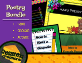 Poetry Bundle: Haiku, Acrostic & Cinquain