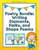 Poetry Bundle: Introduction to Diamante, Haiku, and Shape Poems
