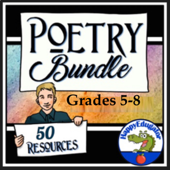 Poetry Bundle - Poetry Teaching Resources Grades 4 - 8