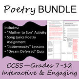 Poetry Bundle--Quiz and Engaging Lessons