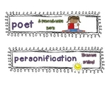 Poetry CCSS Word Wall Extra