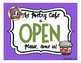 "Poetry Cafe Parent Invitation & ""Open"" Sign"