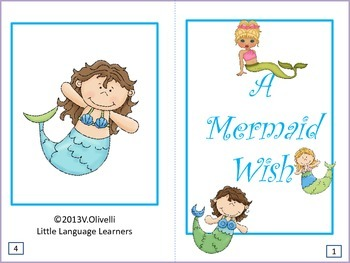 """ESL Resources: Vocabulary/Literacy Skills """"A Mermaid Wish""""-ELL Newcomers Too!"""