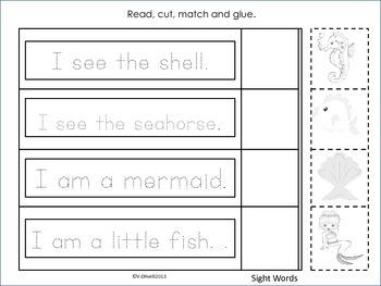"ESL Activity: Vocabulary/Literacy Skills ""A Mermaid Wish""-ELL Newcomers Too!"