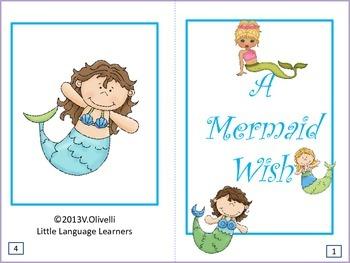 "ESL Resources: Vocabulary/Literacy Skills ""A Mermaid Wish"""