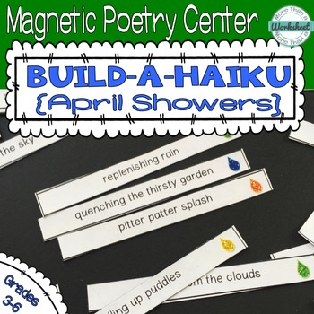 Poetry Center: Magnetic Build a Haiku (April Showers)