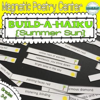 Poetry Center: Magnetic Build a Haiku (Summer Sun)