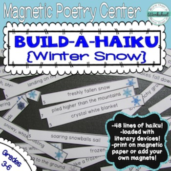 Poetry Center: Magnetic Build a Haiku (Winter Snow)