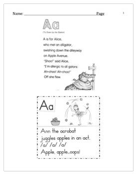 Poetry Letter Recognition Practice Kindergarten A-Z Workshop