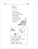 Poetry Letter Recognition Practice Kindergarten A-Z Workshop