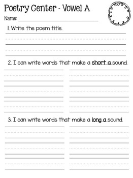 Poetry Center Recording Sheets