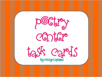 Poetry Center Task Cards (20)
