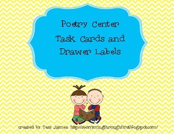 Poetry Center Task Cards And Drawer Labels