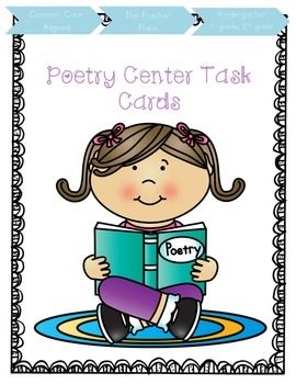 Poetry Center Task Cards and Assessment