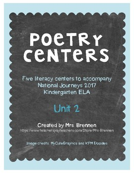 Poetry Centers for HMH National Journeys 2017 Kindergarten, Unit 2