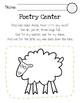 Poetry Centers for HMH National Journeys 2017 Kindergarten, Unit 3