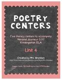 Poetry Centers for HMH National Journeys 2017 Kindergarten, Unit 4