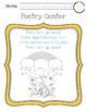 Poetry Centers for HMH National Journeys 2017 Kindergarten, Unit 6