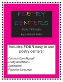 Poetry Centers for Teens! Common-Core Aligned!
