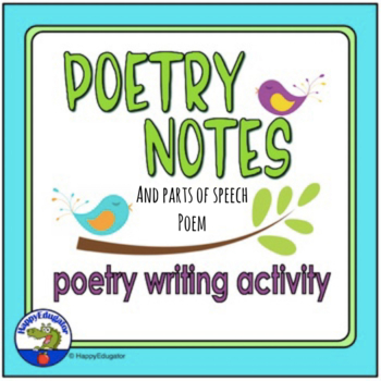 Poetry Characteristics - Notes and Poetry Writing Activity