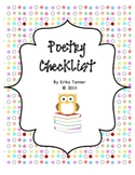 Poetry Checklist {FREEBIE}