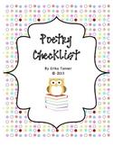 Poetry Checklist {FREEBIE}