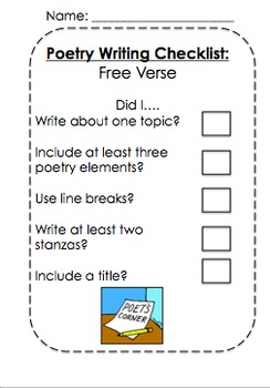 Poetry Checklists