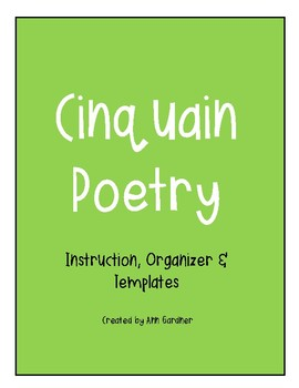 Poetry - Cinquain - New Fonts!!