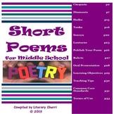 POETRY: Short Poems Unit (Cinquain, Diamante, Haiku, Tanka, Senryu, Lanturne)