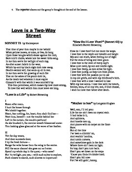 Poetry Circles (Love and identity poems included)