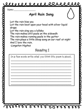 Poetry Close Reading Activities