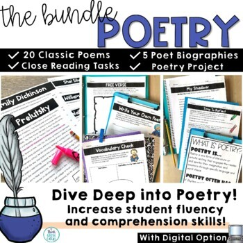 Reading Comprehension Passages and Questions | Poetry Close Reading