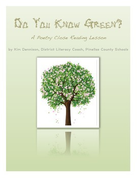 Poetry Close Reading: Do You Know Green?