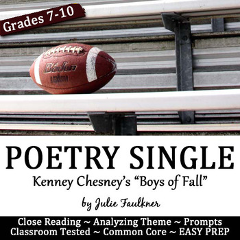 """Fall Football Poetry Lesson for Teens, """"The Boys of Fall"""""""