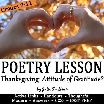 Thanksgiving Poetry & Nonfiction Lesson for Teens: Entitlement or Gratitude?