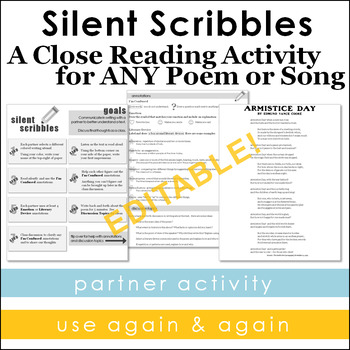 Poetry Close Reading Partner Activity