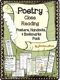 POETRY: CLOSE READING POSTERS, HANDOUTS, & BOOKMARKS FOR MIDDLE SCHOOL ENGLISH